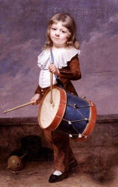 The Artist's Son, Michel Martin Drolling, As A Drummer Boy-Martin Drolling (1752 – 1817, French)