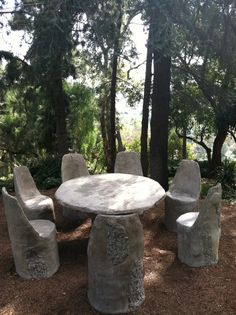 SRF Concrete Table and Chairs