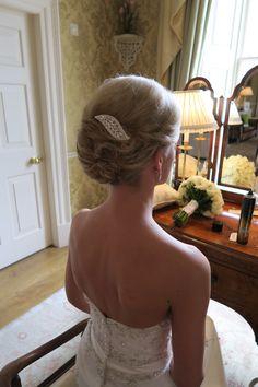 Karen soft pleated roll styling, by Helen @ Circles Bridal hair , Edinburgh , Scotland Bridal Hair And Makeup, Wedding Makeup, Hair Makeup, Edinburgh Scotland, Latest Hairstyles, Circles, Backless, Dresses, Fashion