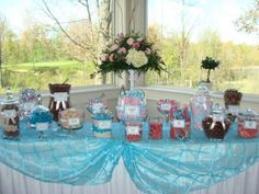 My candy buffet at my wedding