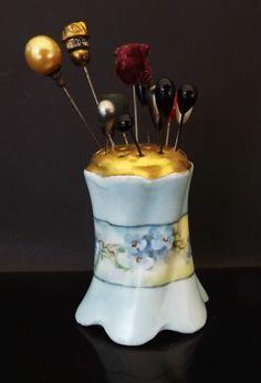 Antique Vintage Hat Pin Holder Porcelain by VintageAndVictorian
