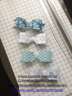 Envelope punch board bows  Stampin' Up!