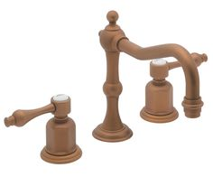 """DOWNSTAIRS BATH Encinitas 8"""" Widespread Lavatory Faucet - spout projection 6-3/8"""" to center1/4 turn ceramic disc cartridge(s)1-1/4"""" all brass lift rod style pop-up drain assembly1.5 gpm water saving aerator"""