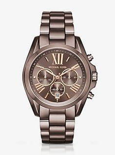 Oversized Bradshaw Sable-Tone Watch by Michael Kors