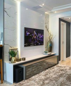61 ideas home theater planejado sala apartamento Small Room Design, Family Room Design, Living Room Tv, Home And Living, Tv Wall Design, House Design, Man Room, Living Room Designs, Interior Design