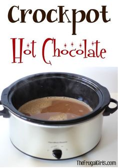 Crockpot Hot Chocolate Recipe! ~ from TheFrugalGirls.com ~ this is the BEST Hot Chocolate... and so fun at Parties and Holidays! #thefrugalgirls #slowcooker #recipes