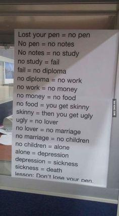 Dont lose your pen