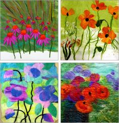 """It's nearly a year since I re-named my felt making business """"THE FELTED GARDEN""""... Now we are all looking forward to the warmer month..."""