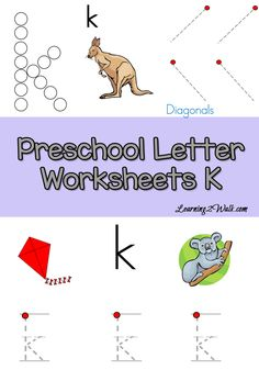 K is for kite and king. Use these free preschool letter worksheets to help your kids with letter k recognition and letter formation