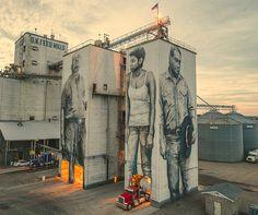 Street Artists Transformed Arkansas City Into Stunning Outdoor Art Gallery Graffiti, Street Art Banksy, Festival D'art, Arkansas City, City Clean, Street Installation, Fort Smith, Sidewalk Art, Rainbow Painting