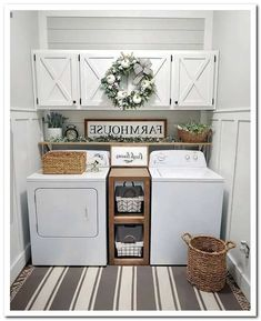 cozy farmhouse living room decor ideas that make you feel in village 5 « Home Design Mudroom Laundry Room, Laundry Room Remodel, Laundry Decor, Laundry Room Bathroom, Farmhouse Laundry Room, Laundry Room Organization, Laundry Room Design, Farmhouse Living Room Decor, Laundry Organizer