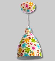 PYLONES - Ceiling lamp GLOBE TROTTER fiori