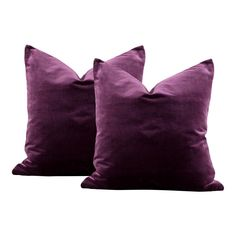 This is a pair of plum purple silk velvet pillows. The pillow forms are not included. Front Fabric: Silk Velvet Back Fabric: Same Color: Plum Details: Hidden zipper and overlocked edges for a professional finish Plum Decor, Purple Home Decor, Purple Interior, Purple Throw Pillows, Black Pillows, Velvet Pillows, Plum Living Rooms, My Living Room, Purple Velvet