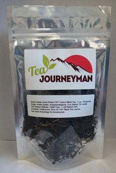 Amba Estate GF OP1 Ceylon Black Tea One Ounce (28 g) Packet. Now available at http://www.teajourneymanshop.com.