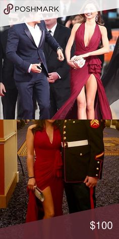 Burgundy dress. Size 4. Worn by Miranda Kerr. Burgundy dress. Worn by Miranda Kerr at 2013 Golden Globes. Size 4. Worn once. Selling for $100 OBO. Dresses Prom