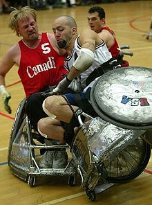 Garett Hickling (born September 18, 1970) is a Canadian wheelchair rugby player. He is on the Canada national wheelchair rugby team and has been voted most valuable player at several World Championships (1995-1998-2002).