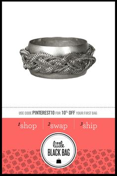 BCBGeneration Woven Chain Link Bangle from my April LittleBlackBag - this was hard to get!