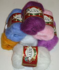 Alize Kid Royal Mohair, a luxuriously soft and fluffy mohair knitting and crochet yarn.