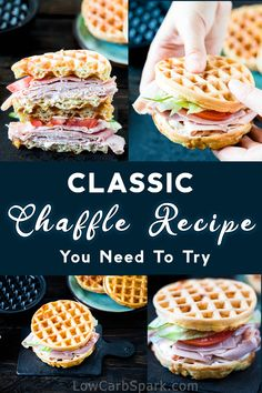 This chaffle recipe is the latest craze around keto and low carb people. Everyone is raving about this keto bread made with just two ingredients: cheese and eggs. It's super easy to make, crispy and extremely versatile. – Rebel Without Applause No Bread Diet, Best Keto Bread, Low Carb Bread, Low Carb Keto, Low Carb Desserts, Low Carb Recipes, Dessert Recipes, Healthy Recipes, Dinner Recipes