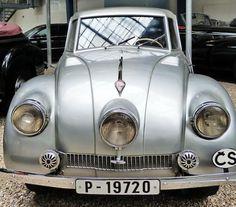 Tatra 87 - 1947 - Vintage car at the National Technical Museum of Prague, Czech… Vintage Cars, Antique Cars, Classic, Vehicles, Prague Czech, Czech Republic, Gallery, Cars, Motorbikes