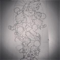 Would love to tattoo this Dragon ball z sleeve #dragonball #dragondallz…