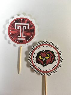 Temple University 12 cupcake toppers College Parties, Grad Parties, Temple College, Trunk Party, 12 Cupcakes, College Graduation, Graduation Ideas, Picture Design, Cupcake Toppers