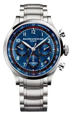 Capeland 10066 steel chronograph watch for men - Baume et Mercier
