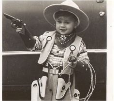 Vintage ANTIQUE PHOTO  Little Retro Cowboy in by vintagewarehouse, $3.50
