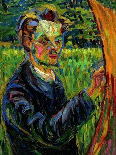 Kirchner, retrato del pintor Heckel.