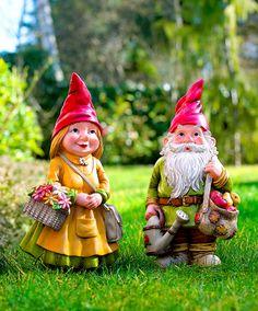 La coppia perfetta: Carlotta e Sebastiano! - #nani #gnomo #giardino