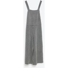 Zara Printed Jumpsuit (47 AUD) ❤ liked on Polyvore featuring jumpsuits, jump suit and zara jumpsuit