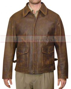 Indiana Jones 4 Harrison Ford Brown Distressed Jacket