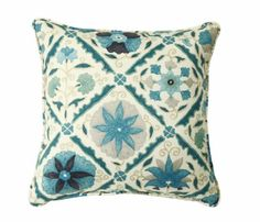 Decorative Pillows Throw Pillows Pillow Covers 18 Inch Square Cover Blue  Beige Ikat -- More info could be found at the image url.