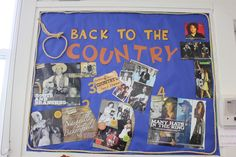BACK TO THE COUNTRY (music, that is!)  A 4-part unit on country music from Music Alive! magazine spirited this bulletin board.