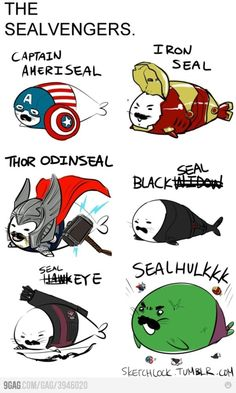 lmao idek how people think of this stuff but wow these are adorable. Thor!  Hulk! CAP! #TheAvengers #Humor