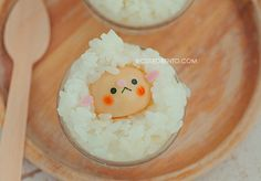 white rice sheep cup.   Cute. Food and snacks that are so kawaii
