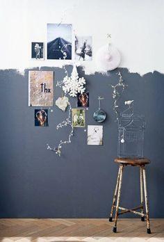 Zweifarbige Wandgestaltung ideen-wand-zwei-farben-grau-weiss-deko-fotos Two-colored wall design ideas-wall-two-colors-gray-white-deco-photos