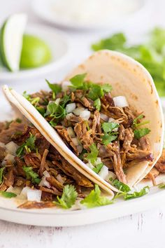 This is the BEST carnitas recipe! Rich tender shredded pork with crispy crunchy edges perfect for tacos burritos or just eating by the forkful. Pork Recipes For Dinner, Steak Recipes, Mexican Food Recipes, Cooking Recipes, Healthy Recipes, Mexican Dishes, Crockpot Recipes, Shredded Pork Tacos, Shredded Pork Recipes