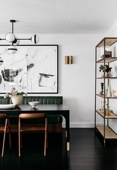 Dining Room Banquette Seating for Mega Inspiration Dining Room Banquette, Banquette Seating, Booth Seating, Dining Tables, Dining Bench, Interior Design Blogs, Home Design, Diy Interior, Room Interior