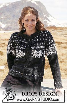 "Ravelry: 116-11 Jacket with Norwegian pattern in ""Karisma"" pattern by DROPS design"