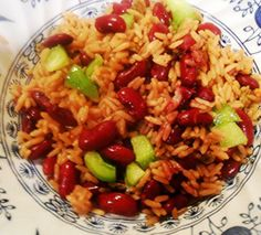 Haitian Diri Ak Pwa (Rice and Beans). Photo by pammyowl Rice Recipes, Crockpot Recipes, Cooking Recipes, Meal Recipes, Hatian Food, Rice And Beans Recipe, Caribbean Recipes, Caribbean Food, Haitian Food Recipes