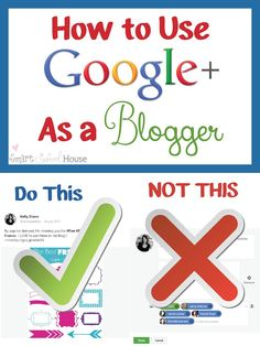 The simple DO's and DONT's that every blogger needs to know about advertising their posts on Google+!