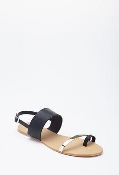 Faux Leather Toe Sandal