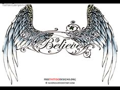 Small Angel Wings Tattoo   Small Triball Tattoo Design   Angel Wing Tattoos For Girls On Lower ...