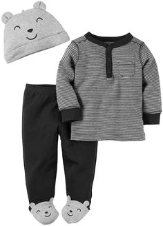 Carter's Baby Boys 3 Pc Sets 126g303, Heather, 3 Months