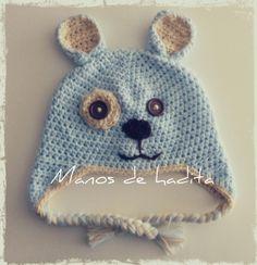 Gorro perrito niño crochet