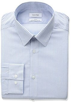 Calvin Klein Men's Non Iron Slim Fit Mini Check Point Collar Dress Shirt - http://www.darrenblogs.com/2017/04/calvin-klein-mens-non-iron-slim-fit-mini-check-point-collar-dress-shirt/