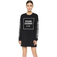 Opening Ceremony Bar Code Dress (265 AUD) ❤ liked on Polyvore