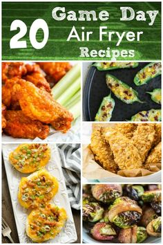 20 Game Day Air Fryer Recipes - cut the grease and keep ALL the flavor this football season with these mouth-watering recipes that will make your game day celebration truly scrumptious! Air Recipe, Healthy Breakfast Recipes, Healthy Recipes, Southern Recipes, Southern Food, Football Food, Game Day Food, Dinner Dishes, Pressure Cooker Recipes