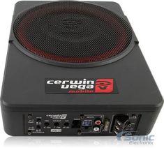 "Cerwin Vega VPAS10 550W 10"" Low Profile Amplified Subwoofer Powered Subwoofer, Powered Speakers, Jdm Tuning, Power Cars, Audio System, Car Audio, Profile, Chevy, Autos"